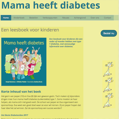 Website 'Mama heeft diabetes'