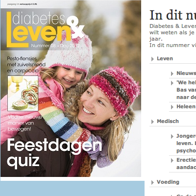 Artikel in Diabetes en Leven over glucosesensor